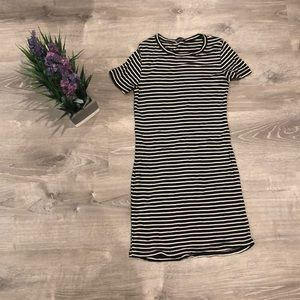 Brandy Melville Black and white striped dress